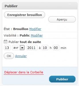 Wordpress : utiliser les brouillons