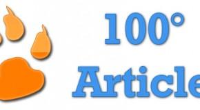 100° article pour un an d'existence
